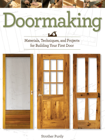 Doormaking: Materials, Techniques, and Projects for Building Your First Door
