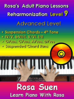 Rosa's Adult Piano Lessons - Reharmonization Level 9 Advanced Level - Suspension Chords 4th tone -IV/V bVII/I V/VI I/II