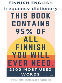 Finnish English Frequency Dictionary: Finnish, #1