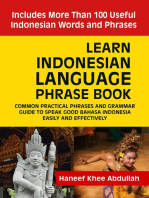 Learn Indonesian language Phrase Book