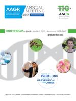 AACR 2017 Proceedings