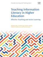 Teaching Information Literacy in Higher Education: Effective Teaching and Active Learning