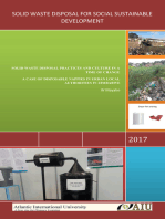 Solid Waste Disposal For Social Sustainable Development