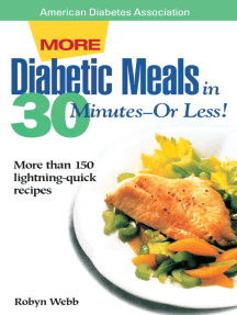 More Diabetic Meals in 30 Minutes?or Less!