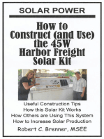 Solar Power: How to Construct (and Use) the 45W Harbor Freight Solar Kit