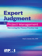 Expert Judgment in Project Management