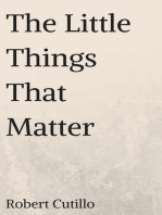 The Little Things That Matter
