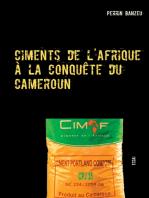 Ciments de l'afrique à la conquête du cameroun: Essai
