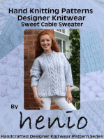Hand Knitting Pattern: Designer Knitwear: Sweet Cable Sweater: Henio Handcrafted Designer Knitwear Single Pattern Series, #1