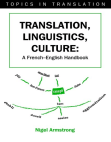 Translation, Linguistics, Culture: A French-English Handbook Free download PDF and Read online