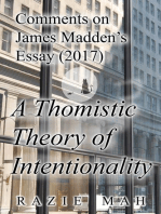 Comments on James Madden's Essay (2017) A Thomistic Theory of Intentionality