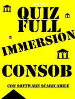 Preselezioni Concorso COADIUTORI CONSOB - QUIZ FULL IMMERSION