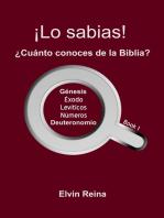 ¡Lo sabias! ¿Cuánto conoces de la Biblia? Book 1