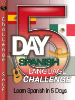 5-Day Spanish Language Challenge: Learn Spanish In 5 Days