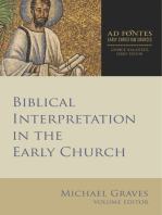 Biblical Interpretation in the Early Church