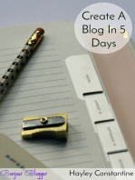 Bonjour, Blogger! Create A Blog In 5 Days