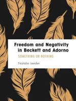 Freedom and Negativity in Beckett and Adorno