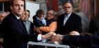 Marine Le Pen and Emmanuel Macron Advance