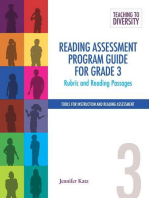Reading Assessment Program Guide For Grade 3: Rubric and Reading Passages
