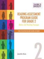Reading Assessment Program Guide For Grade 2: Rubric and Reading Passages