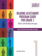 Reading Assessment Program Guide For Grade 1: Rubric and Reading Passages