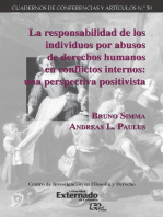 La responsabilidad de los individuos por abusos de derechos humanos en conflictos internos