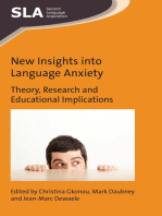 New Insights into Language Anxiety