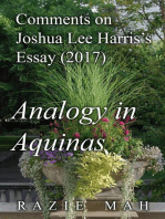 Comments on Joshua Lee Harris's Essay (2017) Analogy in Aquinas