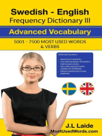 Swedish English Frequency Dictionary II - Intermediate Vocabulary - 5001 - 7500 Most Used Words & Verbs