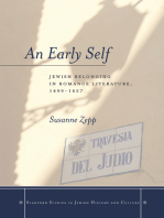 An Early Self: Jewish Belonging in Romance Literature, 1499-1627