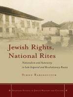 Jewish Rights, National Rites