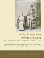 A Jewish Voice from Ottoman Salonica: The Ladino Memoir of Sa'adi Besalel a-Levi