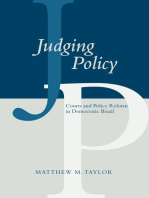 Judging Policy: Courts and Policy Reform in Democratic Brazil
