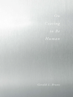 On Ceasing to Be Human