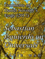 Comments on Daniel Novotny's Essay (2017) Izquierdo on Universals