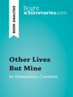 Other Lives But Mine by Emmanuel Carrère (Book Analysis)