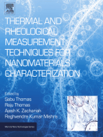 Thermal and Rheological Measurement Techniques for Nanomaterials Characterization