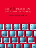 Los 65 errores más frecuentes del escritor