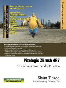 Pixologic ZBrush 4R7: A Comprehensive Guide by Sham Tickoo - Book - Read  Online