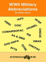 WWII Military Abbreviations