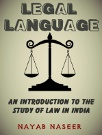 LEGAL LANGUAGE: An Introduction to the Study of Law in India