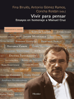 Vivir para pensar: Ensayos en homenaje a Manuel Cruz