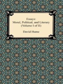 Essays: Moral, Political, and Literary (Volume I of II)