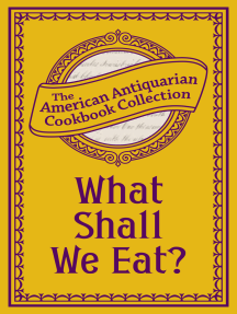 What Shall We Eat?: A Manual for Housekeepers