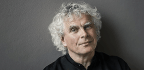 Watch Conductor Simon Rattle Turn Into A High-Tech Tangle Of Spaghetti