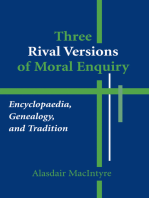 Three Rival Versions of Moral Enquiry