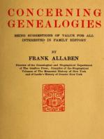 Concerning Genealogies