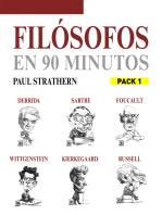 En 90 minutos - Pack Filósofos 1: Foucault, Wittgenstein, Russell, Sartre, Kierkegaard  y Derrida