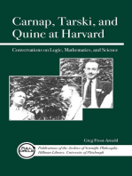 Carnap, Tarski, and Quine at Harvard: Conversations on Logic, Mathematics, and Science
