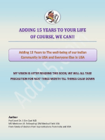 Hindi E-book Adding 15 Years to The Wellbeing of Our Indian Community In USA and Everyone Else In USA
